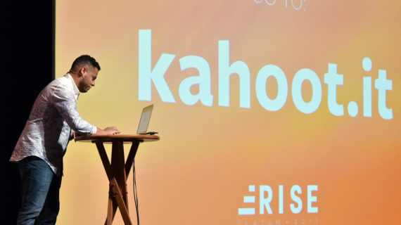 Leo Silva prepares to host a kahoot for Facebook LATAM