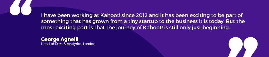 Testimonial working at Kahoot!