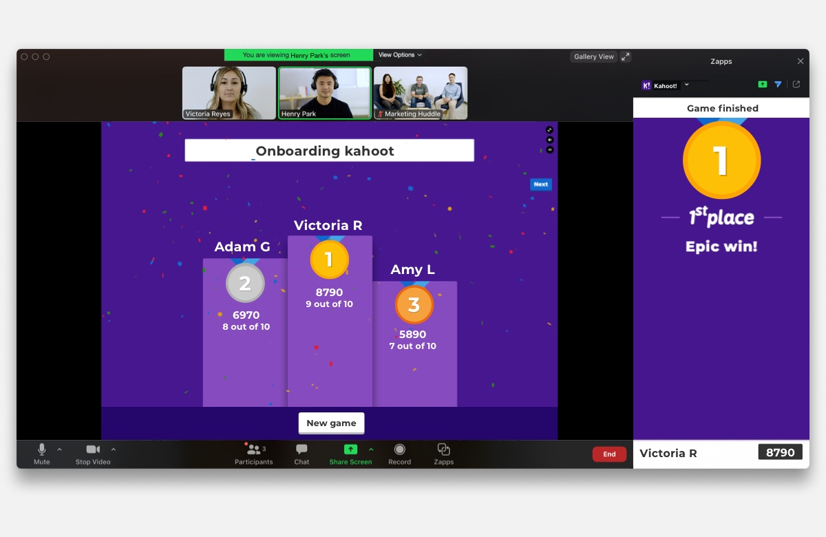 Kahoot! + Zoom: New integration brings engagement to distance learning and  video conferencing | Kahoot!