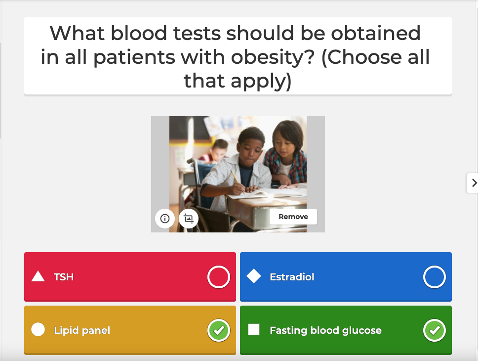 Screenshot of a kahoot with multiple answers